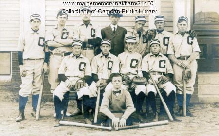 Camden Baseball Team, late 1800s