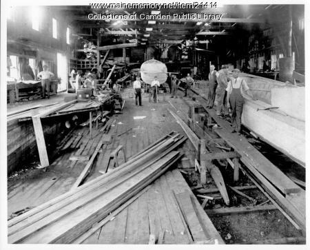 Camden Shipyard interior, ca. 1900