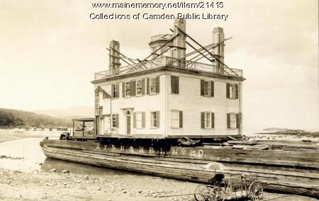 Spite House on Its Way to Rockport, 1925