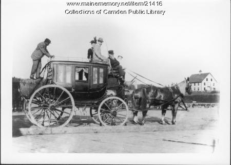 Higgins Stage Coach, Camden, late 1800s