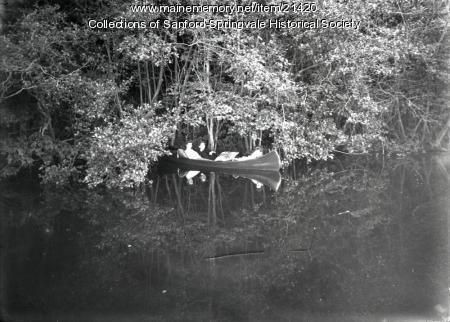 Canoe on the Mousam River, Sanford
