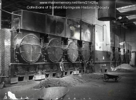 Boiler Room, Sanford Mills, ca. 1915