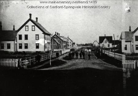 School Street, Sanford, ca. 1885