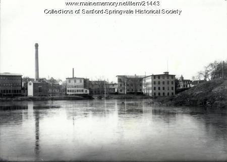 Sanford Mills From Batley Pond, after 1905