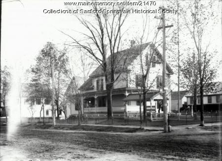 Edward K. Bennett Home, School Street, Sanford, ca. 1915