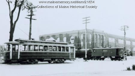 Street railroad, South Portland, 1938