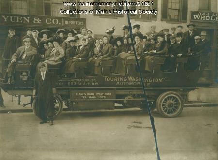 South Portland High School trip, ca. 1910