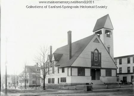 Sanford Baptist Church, ca 1900