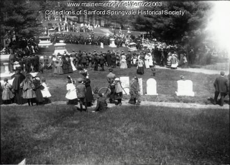 Ceremony, Oakdale Cemetery, ca. 1907