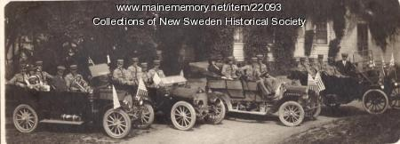 New Sweden Band in Cars ca. 1912