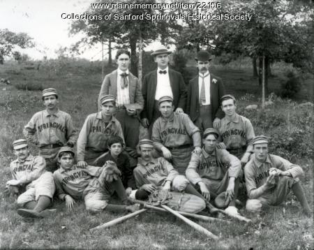 Springvale Nine baseball team, 1896