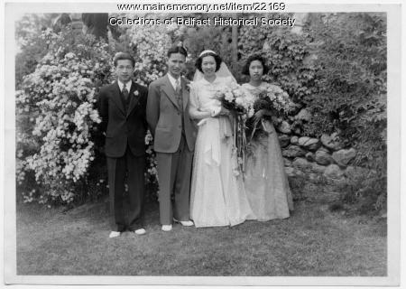 Wong and Minn wedding party, Belfast, 1940