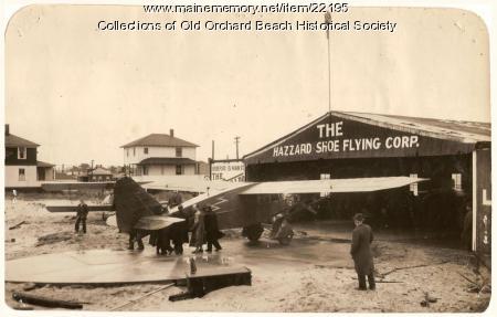 'Green Flash' trial flight, Old Orchard Beach, 1929