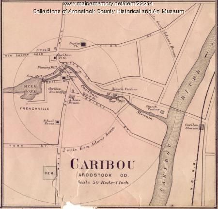 Map of Caribou, ca. 1870