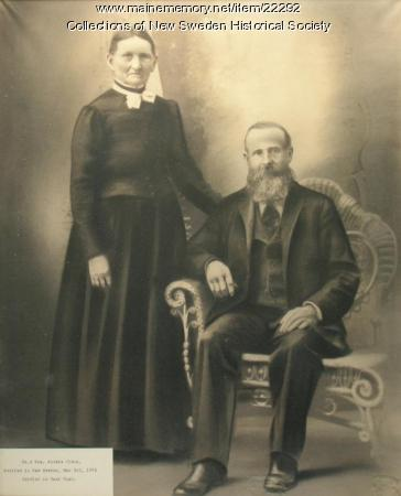 Mr. and Mrs. Anders Olson, New Sweden, ca. 1880