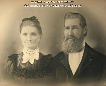 Sven and Carolina Svenson, New Sweden, ca. 1880