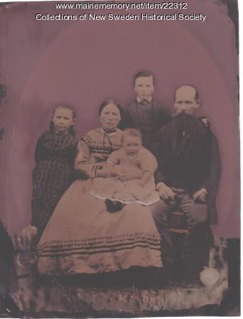 Captain Clase and family portrait, ca. 1870
