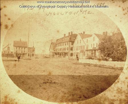 Market Square, Houlton, ca. 1885
