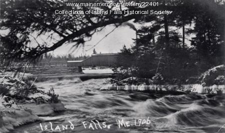 Covered bridge, Island Falls, ca. 1906