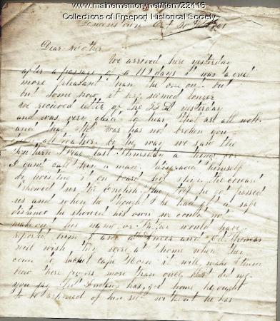 J. M. Dillingham letter to mother, October 1861