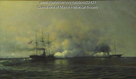 Kearsarge and the Alabama, ca. 1864