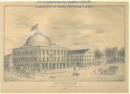 Old Exchange, Portland, in 1845