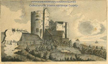 Drawing of Lime Castle, 1822