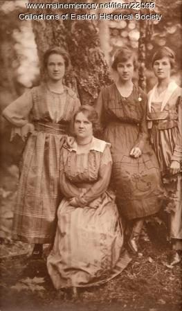 The Flewelling girls, Easton, ca. 1900