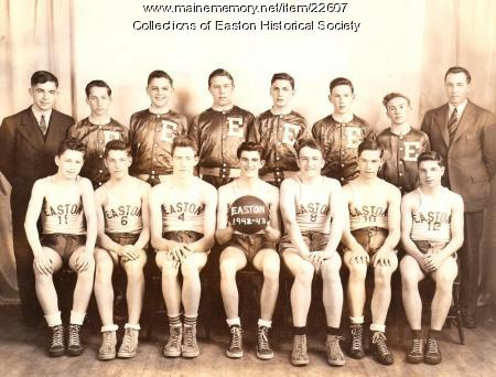 Easton High School Basketball Team, 1942 - 1943