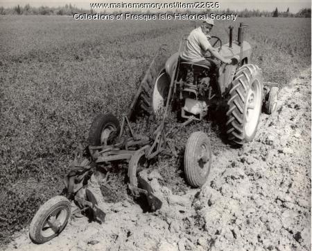 Plowing, USDA Farm, West Chapman, 1950s
