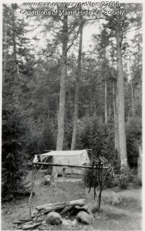 Camp on Allagash Lake, 1909