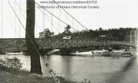 Footbridge, Brunswick-Topsham, ca. 1895