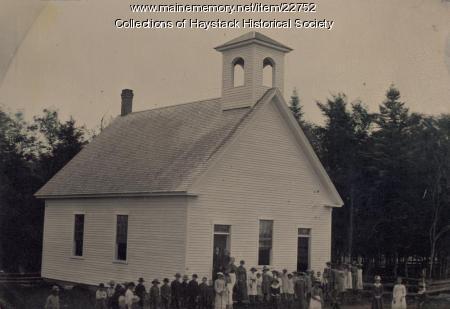 Old Mill school, Mapleton, 1888