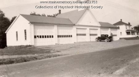 Mapleton town garage, ca. 1930