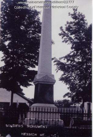Soldier's Monument, Hermon, ca. 1910