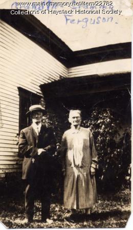 Mr. and Mrs. J. N. Ferguson, Mapleton, ca. 1940