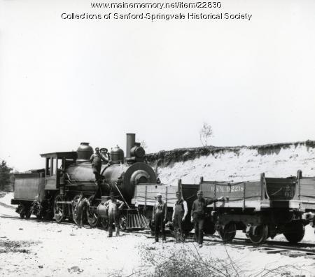 Train Loading Ballast Near Springvale Depot, ca. 1905