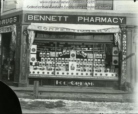 Bennett Pharmacy, Sanford, ca. 1900