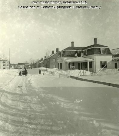 Springvale Following the Great Blizzard of 1888