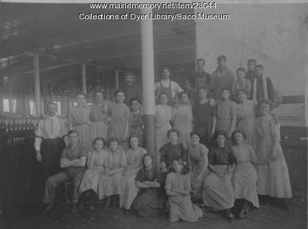 York Manufacturing Company Workers, Saco, ca. 1900