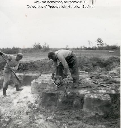 Reclaiming ice, Presque Isle, 1962