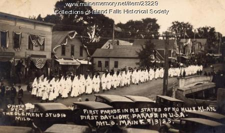 Ku Klux Klan march, Milo, 1923