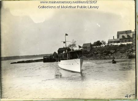 Launch Topsy at Biddeford Pool, ca. 1910