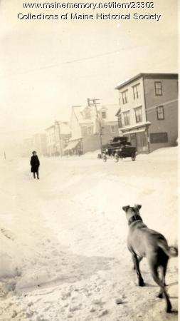 Winter storm in Millinocket, ca. 1926
