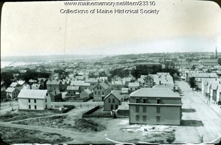 View of Portland from Observatory, ca. 1895