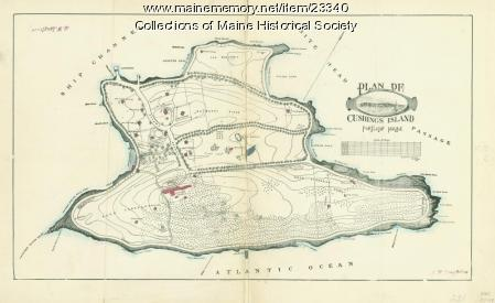 Plan of Cushings Island, ca. 1888