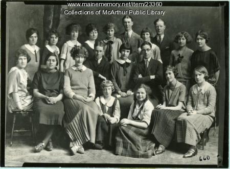 Staff of Biddeford High School Olympian, 1924