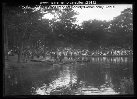 Wabananki canoes at the Maine Centennial, Portland, 1920
