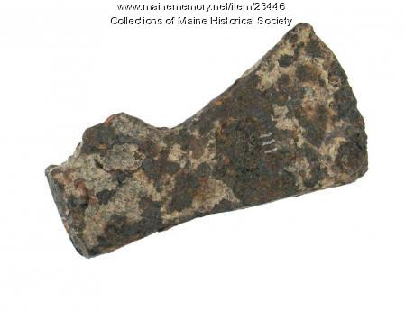 Iron axe head, Auburn, ca. 1700