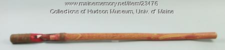 Penobscot walking stick, ca. 1930